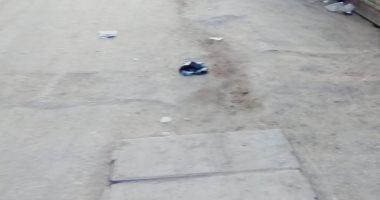 صور.. قارئ يطالب برصف شارع النيل بمنطقة الوراق بالجيزة