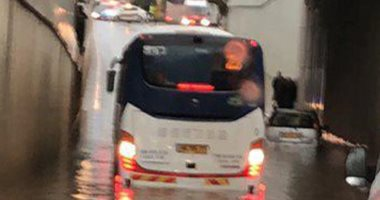 فيديو وصور.. إسرائيل تغرق فى مياة الأمطار والسيول