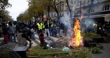 """صدامات الشرطة الفرنسية مع """"السترات الصفراء"""" فى السبت التاسع لحركة الغضب"""