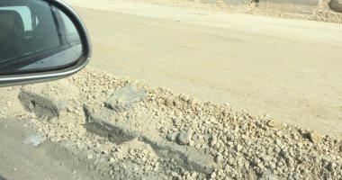 شكوى من كثرة الإصلاحات على طريق الكريمات.. ويناشد المسئولين لوضع علامات تحذيرية