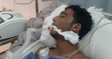 """صور.. """"خطأ طبى يدمر حياة أسرة"""" محمد دخل غرفة العمليات وخرج بضمور فى المخ"""