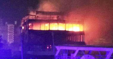 إخماد حريق داخل مركب بالنيل  دون اصابات