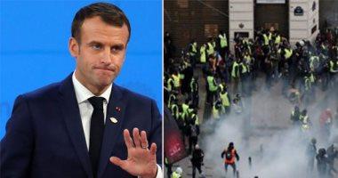 ماكرون: فرنسا استيقظت على حالة حزن جراء الحريق فى المبنى السكنى بباريس