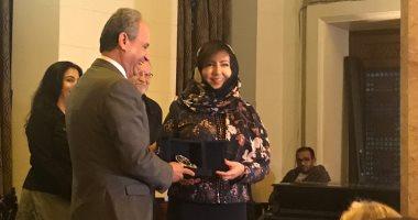 شاهد.. أميمة الخميس تتسلم جائزة نجيب محفوظ فى الأدب لعام 2018