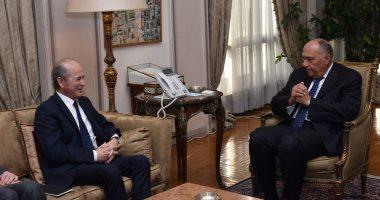 سامح شكرى يبحث أبرز مستجدات الأزمة السورية مع المبعوث الشخصى للرئيس الفرنسى