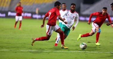 لقطة من مباراة  الأهلي وجيما الإثيوبى