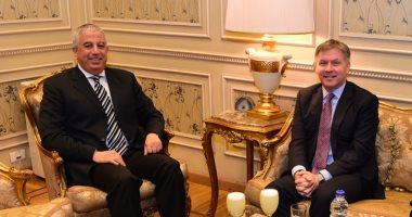 صور.. لجنة العلاقات الخارجية بالبرلمان تستقبل سفير كندا بالقاهرة