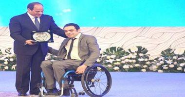 الرئيس خلال تكريم متحدى الإعاقة