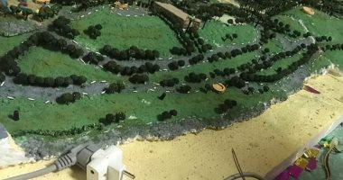 طلبة كلية فنون العمارة بالمنصورة يشاركون بصور لمشروع تخرج ماكيت حديقة الأزهر
