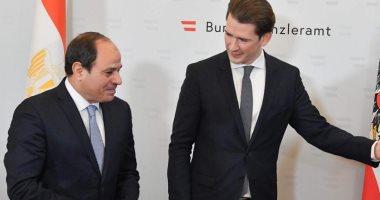 الرئيس عبد الفتاح السيسي ومستشار النمسا