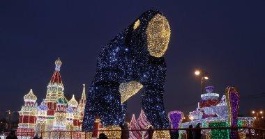 احتفالات أعياد الميلاد تخطف الأنظار فى العاصمة الروسية موسكو