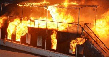 اندلاع حريق داخل مركب نيلى بشارع البحر الأعظم والإطفاء تحاول إخماده