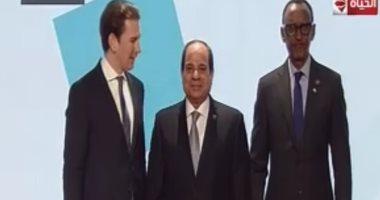 الرئيس السيسى يصل مقر انعقاد المنتدى الإفريقى الأوروبى بالنمسا
