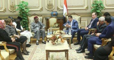 """صور.. """"أفريقية النواب"""" تستقبل سفير نيجريا لدى مصر بالبرلمان"""