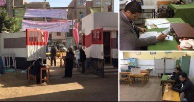 محمود الشريف: الإقبال على التصويت فى الدوائر الثلاثة معتدل رغم صعوبة الجو