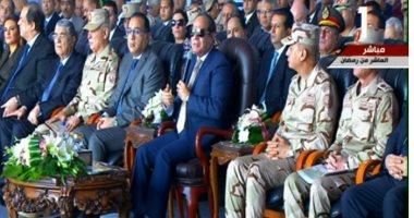 السيسى: مصر ثانى أكبر دولة على مستوى العالم فى مشروع الصوب الزراعية