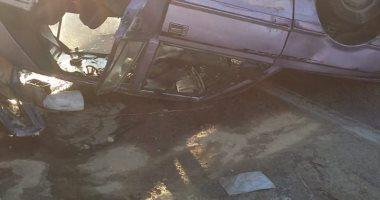 فيديو.. إصابة 8 أشخاص فى حادث تصادم 7 سيارات بطريق إسكندرية الصحراوى بسبب الشبورة