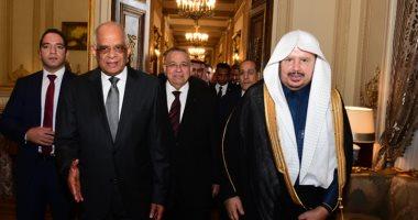 صور.. على عبد العال يستقبل رئيس الشورى السعودى بمقر البرلمان