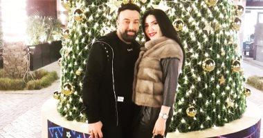 """صورة.. عبير صبرى تحتفل مع زوجها بـ""""الكريسماس"""""""