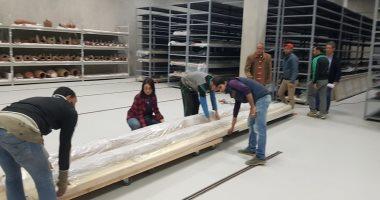 المتحف المصرى الكبير يستقبل 559 قطعة أثرية من مركب خوفو الثانية ومتحف بالتحرير