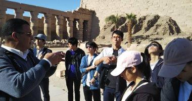 23 طالبا ومدرسا يابانيا متضررا من الفيضانات يزورون مصر