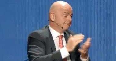 رئيس الاتحاد الدولى لكرة القدم جيانى إنفانتينو