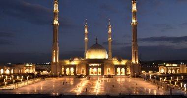 قبل افتتاحه بشكل رسمى.. مسجد الفتاح العليم بالعاصمة الإدارية فى 11 صورة