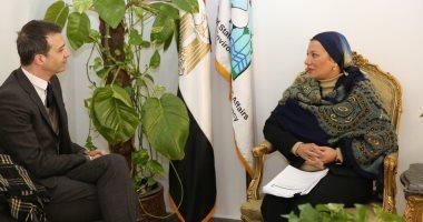 وزيرة البيئة تبحث سبل التعاون مع المدير الإقليمى لوكالة التنمية الفرنسية