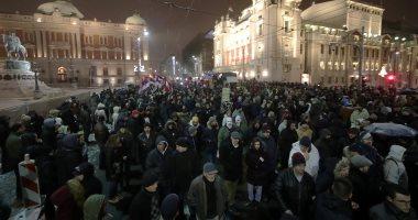 مظاهرات حاشدة فى شوارع بلجراد ضد الرئيس الصربى