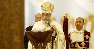 البابا تواضروس يترأس قداس أحد السعف بدير الأنبا بيشوى بوادى النطرون