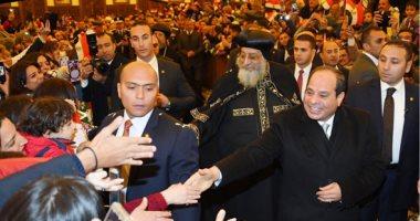 السيسى وعد فأوفى.. الرئيس يفتتح مسجد الفتاح العليم وكاتدرائية ميلاد المسيح