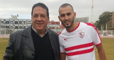 خالد بوطيب ينتظم فى مران الزمالك لأول مرة