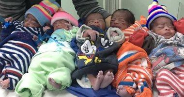 ولادة ناجحة لـ5 توائم 4 ذكور وأنثى بمستشفى جنوب الوادى الجامعى.. صور