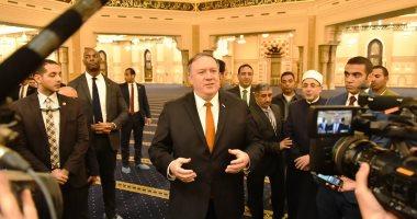 فيديو.. يرصد زيارة وزير الخارجية الأمريكى للكاتدرائية ومسجد الفتاح العليم