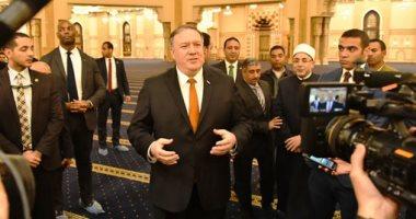 لقطات لم تنشر من زيارة وزير الخارجية الأمريكى لمسجد الفتاح العليم وكاتدرائية العاصمة الإدارية