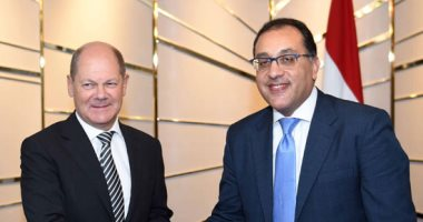 رئيس الوزراء يلتقى أولاف شولتز نائب المستشارة الألمانية لبحث التعاون المشترك