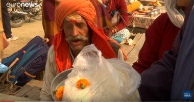 شاهد.. تقاليد الهندوس فى الحج عند الأنهار المقدسة