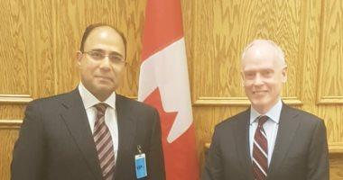 سفير مصر بكندا يلتقي مستشار رئيس الوزراء الكندى للشئون الخارجية والدفاعية
