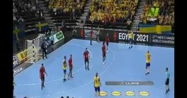 شاهد.. إعلانات كأس العالم 2021 بمصر تزين مباراة الفراعنة والسويد بمونديال اليد