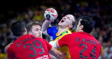 قبل نهاية المباراة بـ 8 دقائق.. مصر تتعادل أمام السويد 22- 22 بمونديال اليد