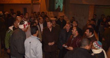 صور.. محافظ بنى سويف يأمر بتوفير 4 وحدات إيواء عاجل للأسر المتضررة بقرية بنى هارون