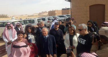 بالصور..  جولة سياحية لفنانى مصر بالمناطق الآثرية بمحافظة العلا السعودية