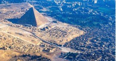 ناشيونال جيوغرافيك تنشر صورة رائعة للأهرامات لإبراز حكمة سائق تاكسى ..قال إيه؟