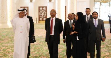 رئيس المالديف يزور جامع الشيخ زايد الكبير فى أبوظبى