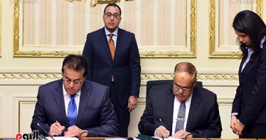 """صور.. رئيس الوزراء يشهد توقيع اتفاقية تعاون بين التعليم العالى و""""العربية للتصنيع"""""""