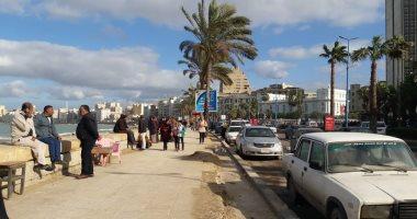 صور .. الطقس فى الأسكندرية الآن.. أجواء صافية وشمس ساطعة