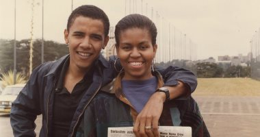باراك وميشيل أوباما فى شبابهما