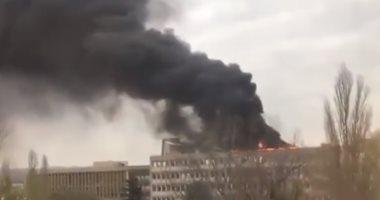 فيديو.. لحظة انفجار لاسطوانات غاز فى جامعة ليون جنوب شرق فرنسا
