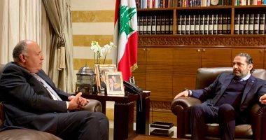 وزير الخارجية: مصر تدعم أمن واستقرار لبنان وتشكيل حكومة وفاق