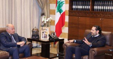 سعد الحريرى يبحث مع أبو الغيط فى لبنان أوضاع المنطقة